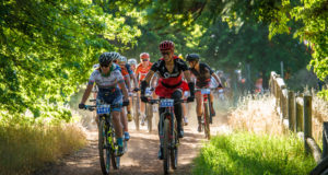 """Celebrating its 5th anniversary on Saturday, 25 November 2017 and Sunday, 26 November 2017 the organizers of the Origin Of Trails are excited to welcome BUCO as the title sponsor of Stellenbosch's mountain bike party of the year, the BUCO Origin Of Trails.  An individual two day stage mountain bike race, mountain bikers can look forward to experiencing a vast network of world class trails.  Entrants will be granted the """"once a year"""" opportunity to experience a spectacular combination of single-tracks in the pristine setting of the majestic Stellenbosch Winelands.  Seen here (from left to right):  Robyn De Groot and Ariane Luthi talking up a storm during the 2016 event.  Photo Credit:  Tobias Ginsberg"""