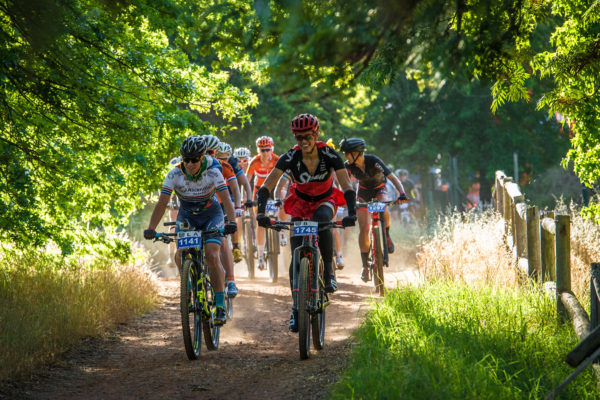 "Celebrating its 5th anniversary on Saturday, 25 November 2017 and Sunday, 26 November 2017 the organizers of the Origin Of Trails are excited to welcome BUCO as the title sponsor of Stellenbosch's mountain bike party of the year, the BUCO Origin Of Trails.  An individual two day stage mountain bike race, mountain bikers can look forward to experiencing a vast network of world class trails.  Entrants will be granted the ""once a year"" opportunity to experience a spectacular combination of single-tracks in the pristine setting of the majestic Stellenbosch Winelands.  Seen here (from left to right):  Robyn De Groot and Ariane Luthi talking up a storm during the 2016 event.  Photo Credit:  Tobias Ginsberg"