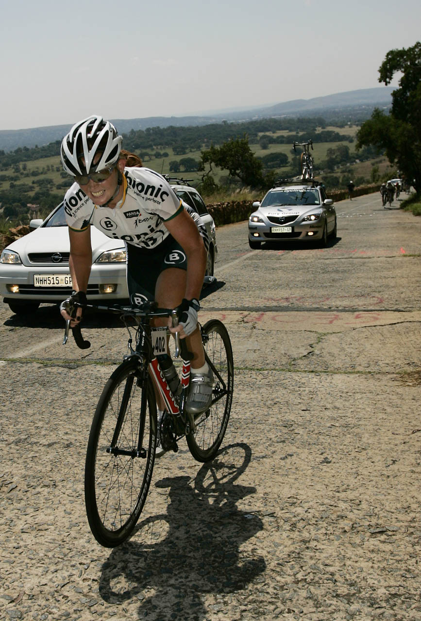 Former national road cycling champion Ronel van Wyk says the iconic Tom Jenkins climb will play a critical role in the 98km feature race at the Tshwane Classic in Pretoria on November 5. Photo: Supplied