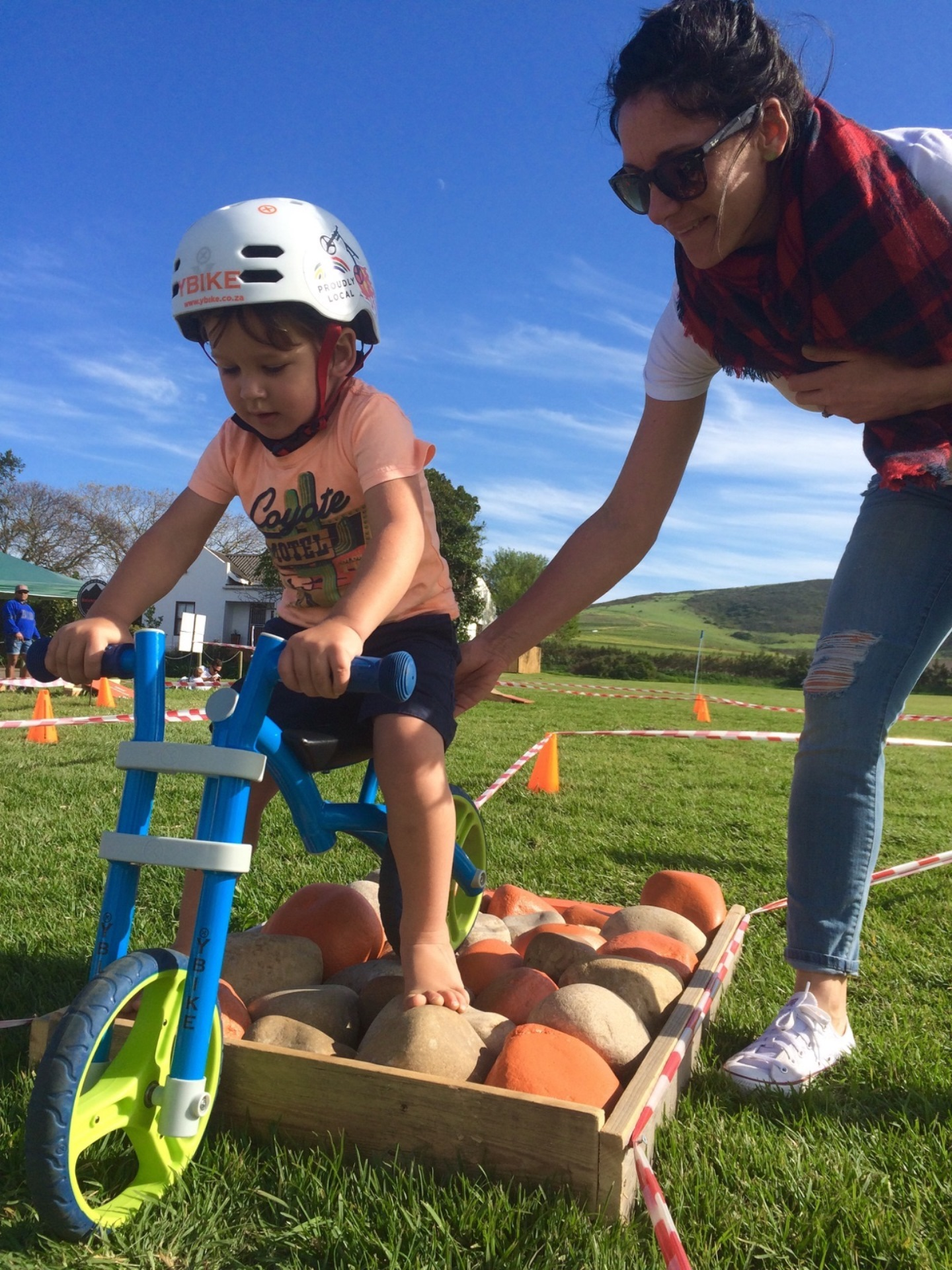 Junior MTB enthusiasts will be able to 'test their balance' with YBIKE at the 3rd annual Fedhealth Kids MTB Events that will take place at the picturesque Boschendal Wine Estate on Saturday, 16 September 2017.  On event day YBIKE will have a fun and challenging Balance Bike Obstacle Course designed to replicate what you would find out on the MTB trails.  Obstacles will include:  a rock garden, balance beam and see-saw to mention just a few.  The obstacles are fun, but functional as they hone the child's skill and overall control of the bike.  Seen here:  A junior mountain biker testing his skill on a YBIKE.