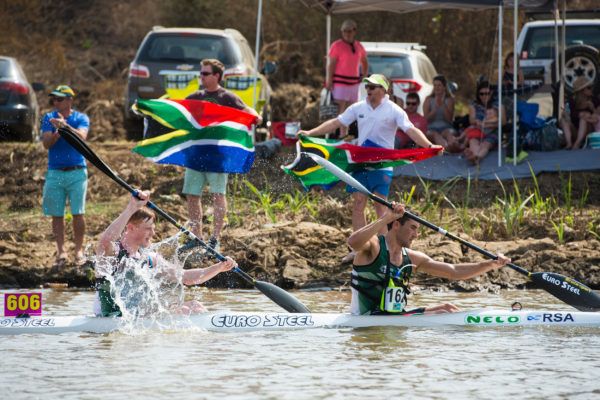 It was a strong showing from Andy Birkett and Jean van der Westhuyzen to finish third in the men's K2 race on the fourth and final day of the 2017 ICF Canoe Marathon World Championships in Pietermaritzburg on Sunday. Anthony Grote/ Gameplan Media