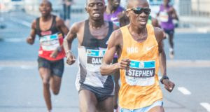 Joshua Cheptegei, the 2017 World Championship 10 000m Silver Medallist and Steven Mokoka, the SA 10km Record Holder are the headline act in the inaugural FNB Durban 10K CITYRSURFRUN on Sunday, 08 October 2017.   The announcement made on Tuesday, 05 September confirms the organiser's desire to make this race the fastest 10km in the World this year (2017).  Currently the best time set in 2017 is 27:18 behind Bernard Kimeli of Kenya.  Seen here:  South Africa's Stephen Mokoka in action at the 2016 FNB Cape Town 12 ONERUN (sister event of the FNB Durban 10K CITYSURFRUN).  Mokoka claimed gold over 12km in the Mother City in an impressive time of 33 minutes 34 seconds.  Photo Credit:  Tobias Ginsberg