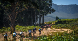 The 2017 FNB Wines2Whales (W2W) Mountain Bike (MTB) Events will kick off at the picturesque Lourensford Wine Estate on Friday, 27 October 2017 with Stage One of the FNB W2W MTB Adventure.  The first of three stages, Stage One boasts a spectacular 68km route that features an impressive 1650m ascent.  Seen here:  Riders in action on Vergelegen close to the Vergelegen Climb during Stage One of the 2016 FNB W2W MTB Events.  Photo Credit:  Tobias Ginsberg