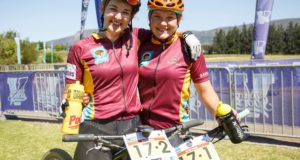 Frankie Du Toit and Nicky Giliomee from Maties at the Varsity MTB Challenge at Nederberg Wine Estate in Paarl on October 1, 2017