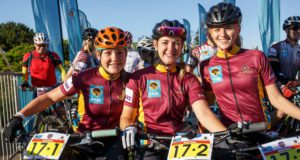 Frankie Du Toit and Nicky Giliomee from Maties at the Varsity MTB Challenge at Nederberg Wine Estate in Paarl on September 30, 2017
