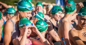 Entries are open for the Western Cape's most exciting open water swim, the Sanlam Cape Mile brought to you by Sanlam Investments.  Celebrating its 4th anniversary in 2018, the Sanlam Cape Mile will return to the majestic Eikenhof Dam at the Grabouw Country Club on Sunday, 18 February 2018.  Entrants can choose between an exhilarating 1 mile (1.6km) and a refreshing 500m swim.  Seen here:  Swimmers at the start of the 2017 Sanlam Cape Mile brought to you by Sanlam Investments.  Photo Credit:  Tobias Ginsberg
