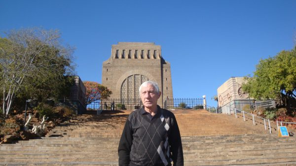 Tshwane Classic race spokesman Mauritz Meyer stands in front of the Voortrekker Monument, which will be the start and finish venue for the 98km road classic on November 5. Photo: Supplied