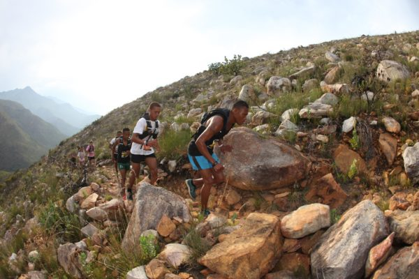 Ettiene Plaatjies and Gershwill Jacobs lived up to their billing as race favourites by claiming the 2017 Dryland Traverse title. Photo by Oakpics.com.