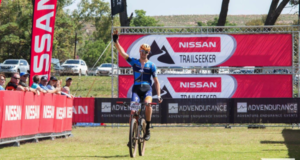 Declan Sidey wins the Nissan TrailSeeker Diamond Rush. Credit: www.zcmc.co.za