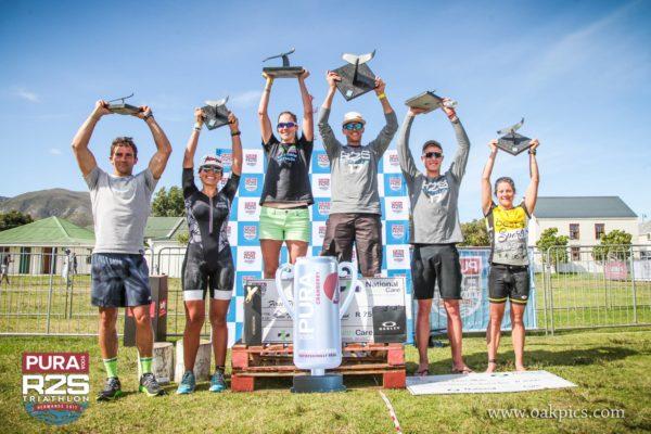 Results of the ultra distance triathlon (1st) Matt Trautman 4:18, (2nd) JP Burger 4:25, (3rd) Stuart Marais 4:32. In the ladies, (1st) Kelly Van Der Toorn 5:42, (2nd) Robyn Owen 5:50 and (3rd) Gabriella Gioia 6:01.