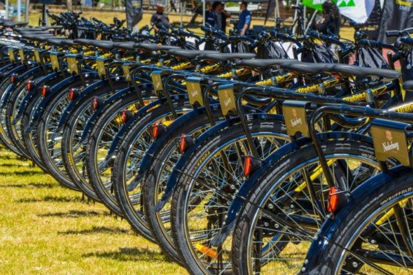 Qhubeka bicycles built at Nederburg and distributed to Paarl East community members