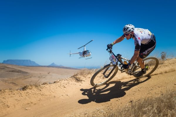 The bike which Jaroslav Kulhavy rode to second position at the 2017 Absa Cape Epic will be auctioned to raise funds for songo.info. Photo by Michal Cerveny.