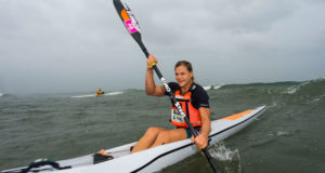 Euro Steel's Bridgitte Hartley has become a local on the sufski scene and expect her to push for overall series honours at the FNB Surfski Challenge on Friday, 12 January at Marine Surf Lifesaving Club. Anthony Grote/Gameplan Media