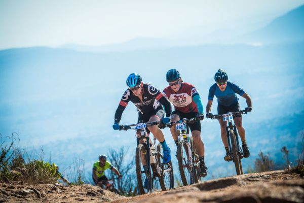 Keen mountain bikers in action at the 2017 FNB Magalies Monster MTB Classic.  Photo Credit:  Tobias Ginsberg