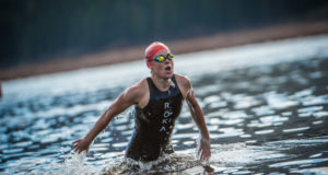 XTERRA Warriors will hone their swimming prowess the weekend prior to the Fedhealth XTERRA Grabouw when they take part in the 2018 Sanlam Cape Mile brought to you by Sanlam Investments at the Eikenhof Dam (Grabouw Country Club/Western Cape) on Sunday, 18 February 2018.  XTERRA Warriors to look out for on the day will include XTERRA World Champions, Bradley Weiss (South Africa) and Flora Duffy (Bermuda) as well as Michael Lord and Hayley Preen to mention just a few.  Seen here:  XTERRA World Champion, Flora Duffy in action in Grabouw.  Photo Credit:  Tobias Ginsberg