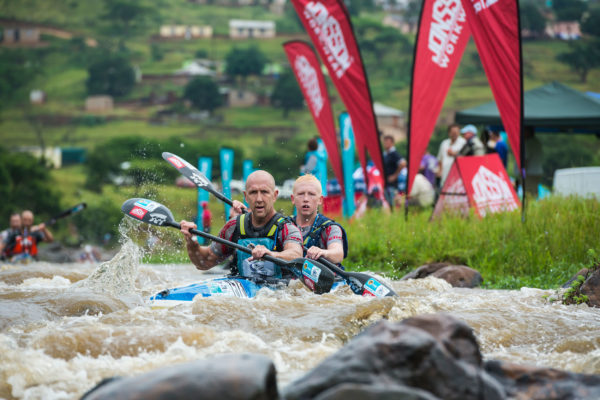 Johannesburg based Father and son pair of Michael (front) and Liam (back) Stewart will rekindle their partnership at the 2018 FNB Dusi Canoe Marathon from 15-17 February. Anthony Grote/ Gameplan Media
