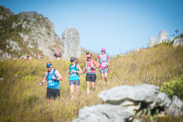 Trail Runners in action at the 2017 AfricanX Trailrun presented by ASICS.  Photo Credit:  Tobias Ginsberg
