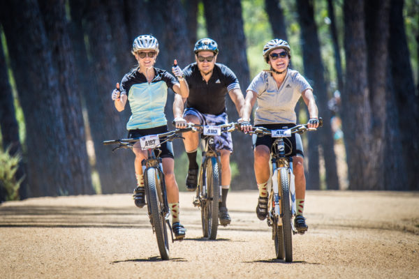Mountain biking enthusiasts in action during the 2017 Origin Of Trails MTB Experience.  Photo Credit:  Tobias Ginsberg
