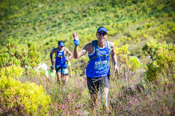 Trail runners in action during the 2017 AfricanX Trailrun presented by ASICS.  Photo Credit:  Tobias Ginsberg