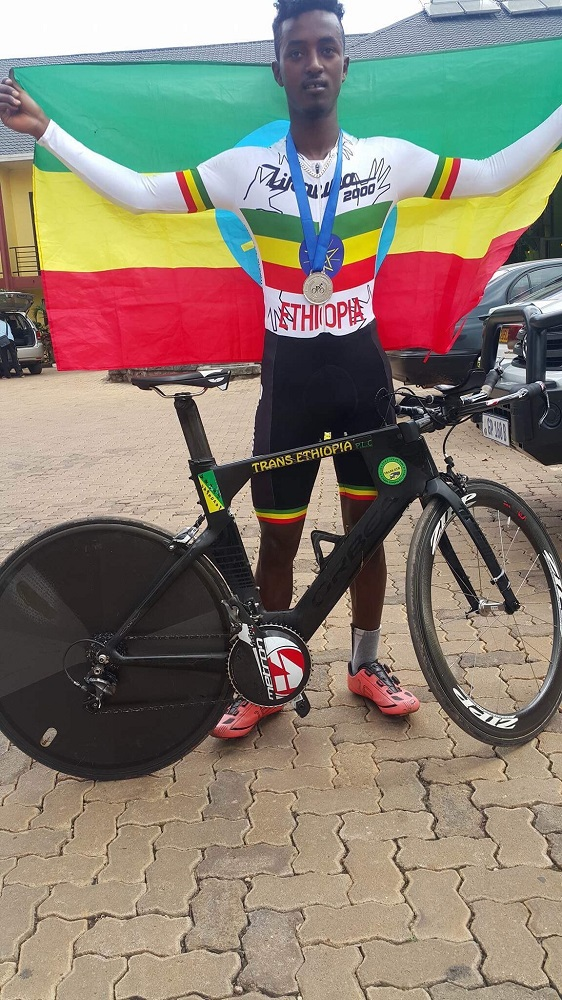 Ethiopian Redwan Salih will be part of the World Cycling Centre Africa team which will compete in the five-day Bestmed Tour of Good Hope in and around Paarl, starting on Monday. Photo: Supplied
