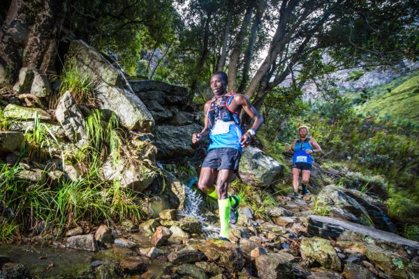 Team K-Way Wintergreen's Bernard Rukadza and AJ Calitz dominated Stage One of the 10th annual AfricanX Trailrun presented by ASICS at Jonkershoek on Friday, 27 April 2018.  Running their 3rd AfricanX Trailrun together as a team, Rukadza and Calitz completed the 33km Stage in a well-deserved time of 02 hours 45 minutes 44 seconds.  Nicolette Griffioen and Carla Van Huyssteen of Team KeyHealth Neverest / K-Way crossed the finish line first in the women's race in a time of 03 hours 25 minutes 31 seconds.  The mixed team race was won by Team Crumb's Daneil Feldmann and Davide del Fante in a time of 03 hours 40 minutes 40 seconds.