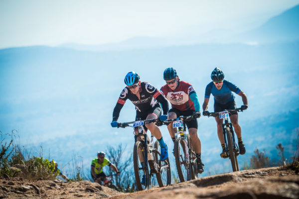 Mountain Bikers in action at the 2017 FNB Magalies Monster MTB Classic.  Photo Credit:  Tobias Ginsberg