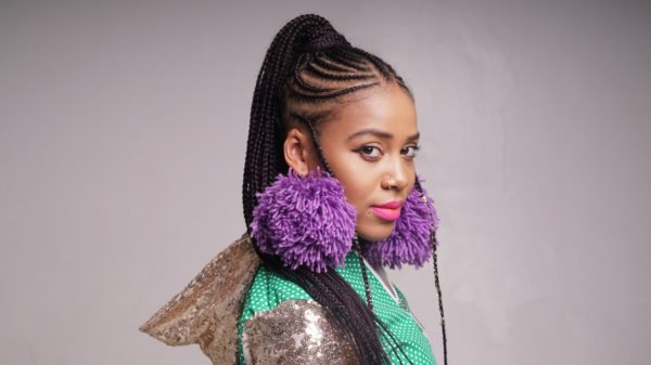 South African rapper and poet, Sho Madjozi will entertain thousands of runners and walkers at the Totalsports Women's Race at Mary Fitzgerald Square (Newtown) on Thursday, 09 August 2018 (National Women's Day). Seen here:  Sho Madjozi.  Photo Credit:  Garth Von Glehn