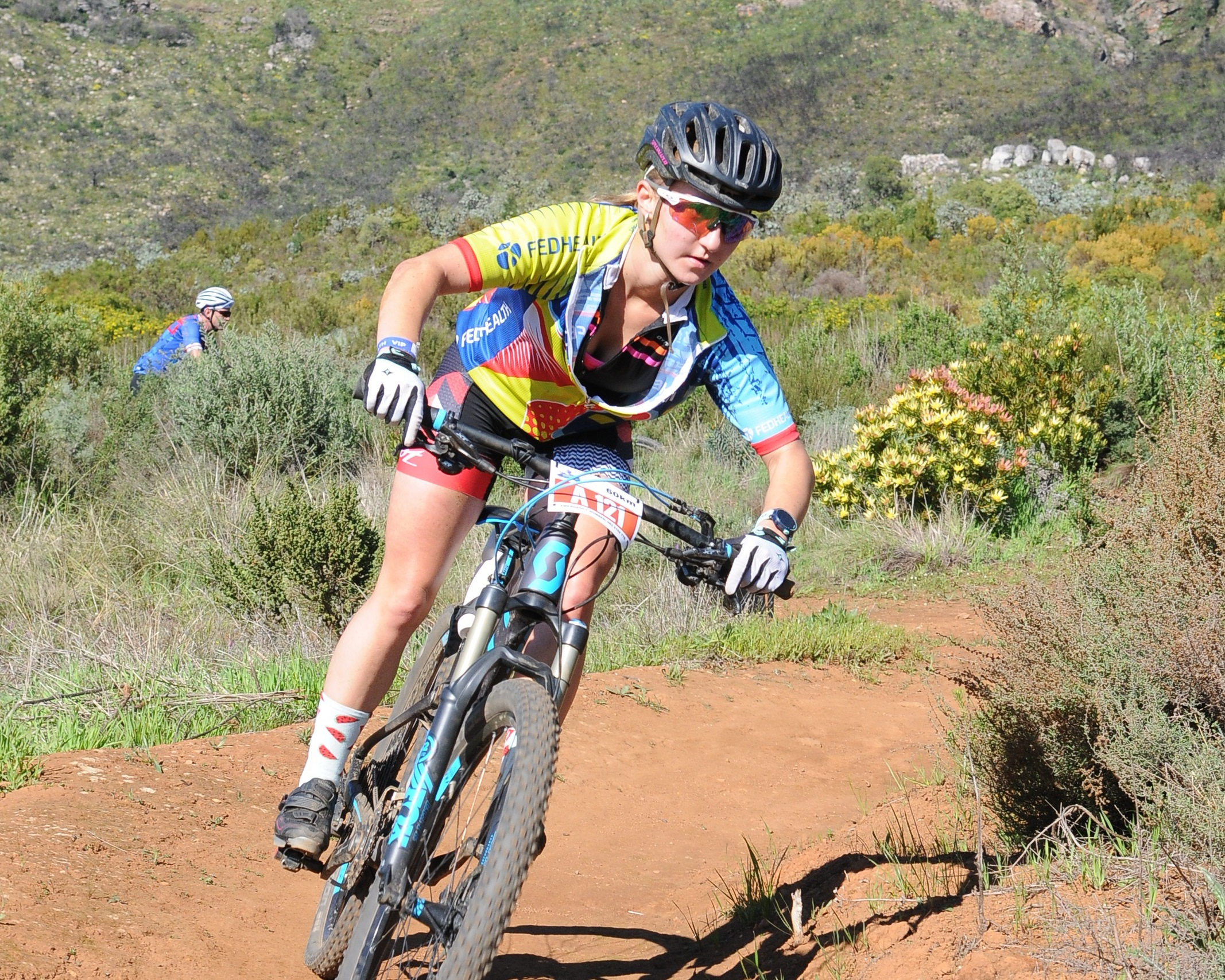 Natia Van Heerden in action at the 2017 Fedhealth MTB Challenge.  Photo Credit:  Jetline Action Photo