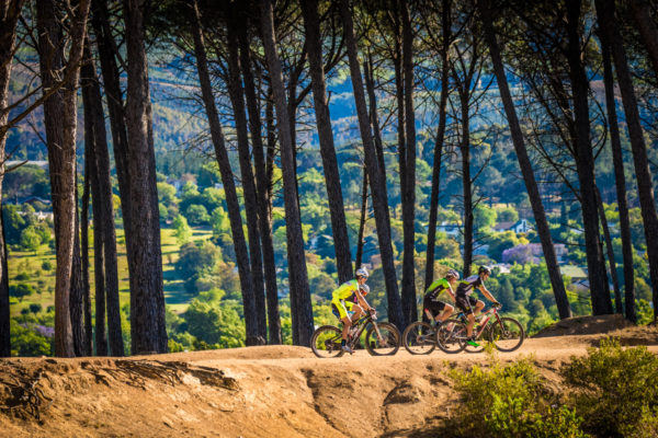 Mountain bikers enjoying the 2017 Origin Of Trails MTB Experience MTB routes.  Photo Credit:  Tobias Ginsberg