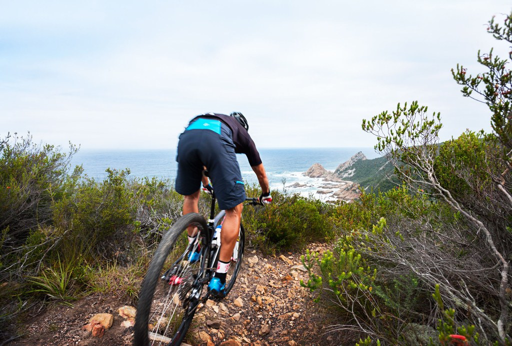 The BUCO Dr Evil Classic takes in the scenic coastal trails of the Robberg Coastal Corridor – a highly environmentally sensitive area – on the third and final stage of the race. Photo by Daron Chatz.
