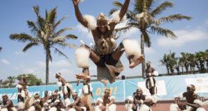 Amabhubesi Zulu Dancers at FNB Durban 10K CITYSURFRUN by Rogan Ward