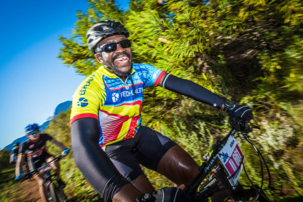 Pono Lenyora in action during the 2017 Fedhealth MTB Challenge.  Photo Credit:  Tobias Ginsberg