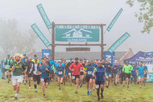 Misty conditions did not deter trail runners at stage 2 of the Glencairn Trail Run near Underberg. Photo credit Kevin Sawyer