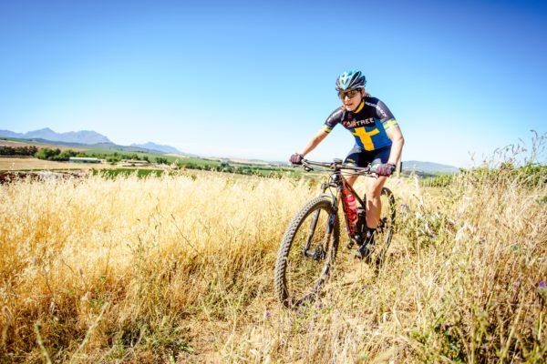 Fairtree announced their mountain bike sponsorship of current Swedish MTB marathon champion and 2017 Absa Cape Epic winner, Jennie Stenerhag. Photo credit: Chris Hitchcock.