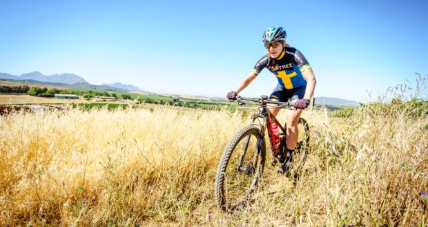 Fairtree announced their mountain bike sponsorship of current Swedish MTB marathon champion and 2017 Absa Cape Epic winner, Jennie Stenerhag. Photo credit: Chris Hitchcock.
