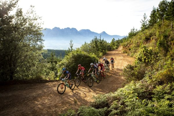 during the 2018 FNB Wines2Whales Shiraz 3 day mountain bike event stage 1 from Lourensford to Oak Valley. Image by Nick Muzik