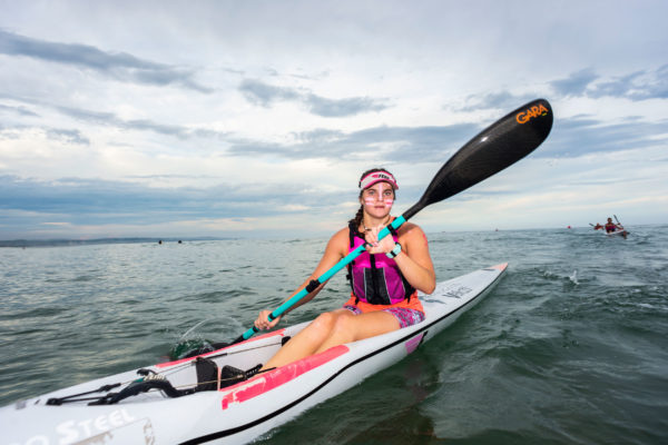 Young Kyeta Purchase took her second win of the series at the Lettie Love Fund Surfski Challenge, race six of the 2019 Marine Surfski Series on Tuesday. Anthony Grote/ Gameplan Media
