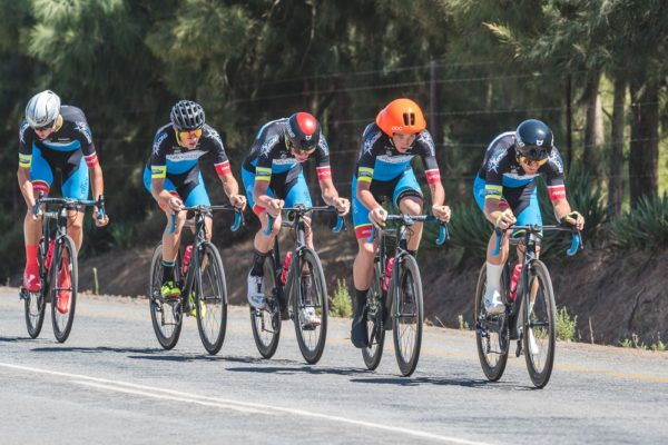 The OfficeGuru Racing outfit took the honours in the 26.5km team time-trial on the third day of the Takealot Tour of Good Hope in the Cape Winelands today. The five-stage road cycle race finishes at the Taal Monument near Paarl on Friday. Photo: Henk Neuhoff Photography