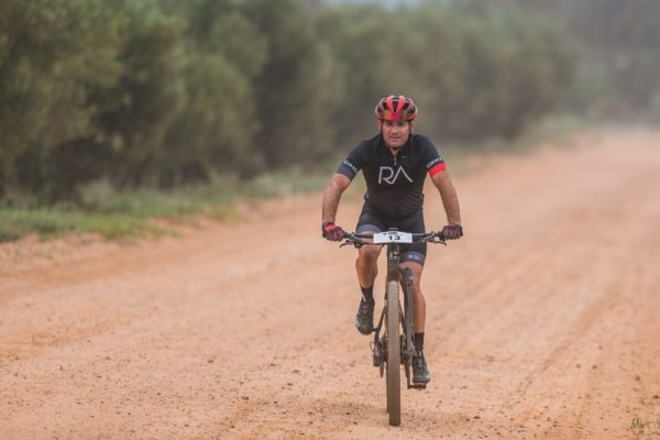 Corne Barnard won the opening stage in the men's solo category of the Liberty Winelands Encounter from the Boschendal Wine Estate to Franschhoek today. The three-stage mountain-bike race ends at the Nederburg Wine Estate in Paarl on Sunday. Photo: Henk Neuhoff