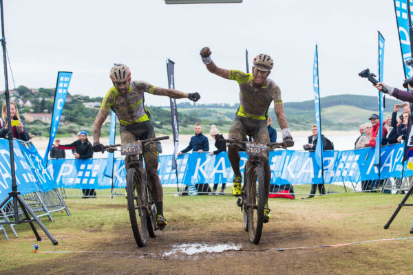 The PYGA Euro Steel duo of Phil Buys (left) and Matthys Beukes (right) will want to repeat their KAP sani2c triumph from 2017 at the 2019 event from 16-18 May. Anthony Grote/ Gameplan Media