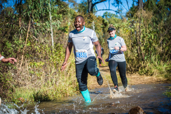 Trail runners have a blast at the 2018 FNB Platinum Trail Run.  Photo Credit:  Tobias Ginsberg