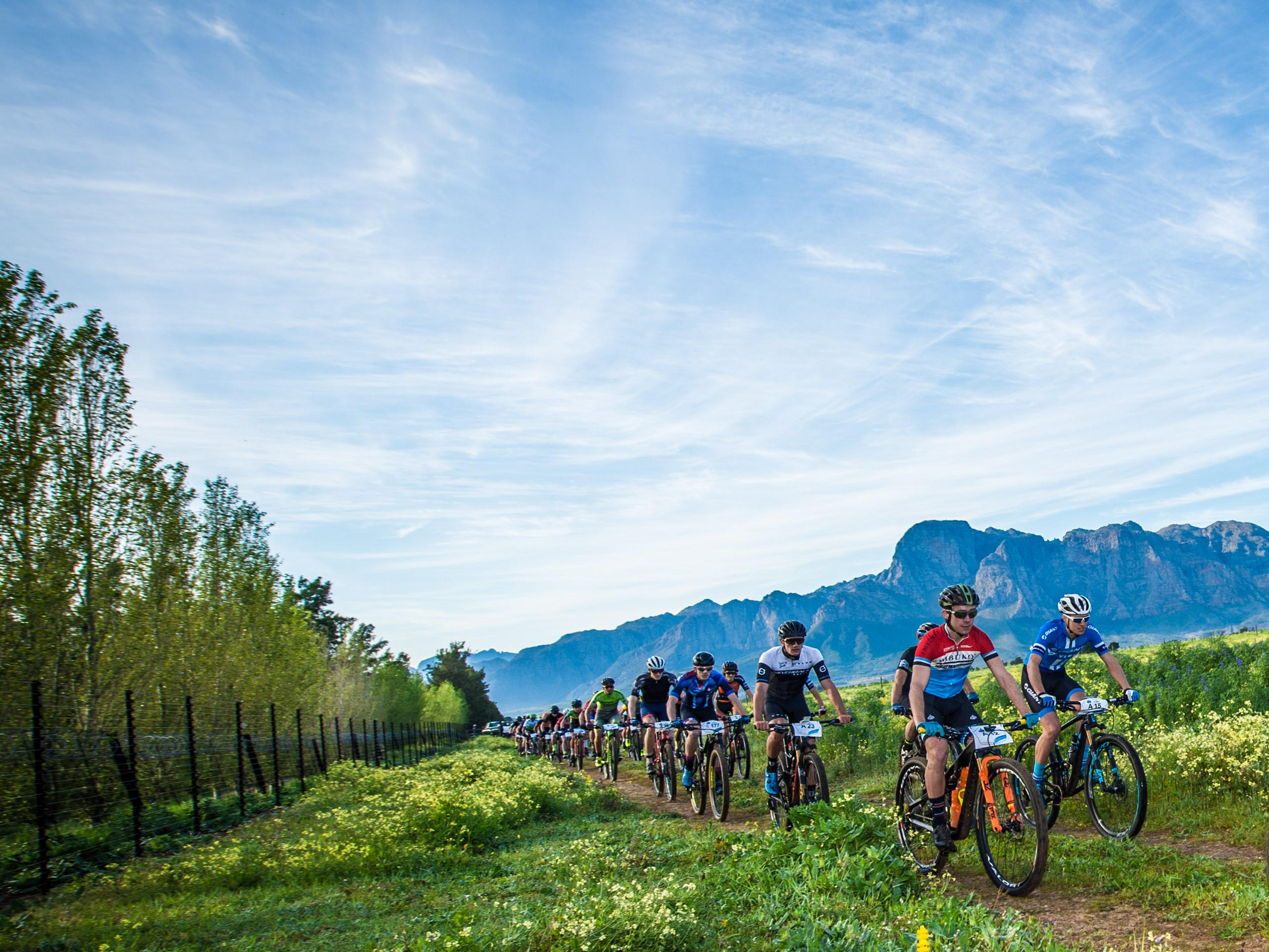 Mountain bikers in action at the 2018 Fedhealth MTB Challenge.  Photo Credit:  Tobias Ginsberg