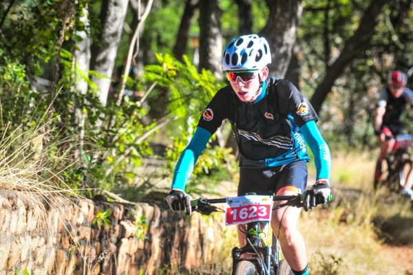 Nathan Botha in action during the 2018 FNB Magalies Monster MTB Classic.  Photo Credit: Jetline Action Photo