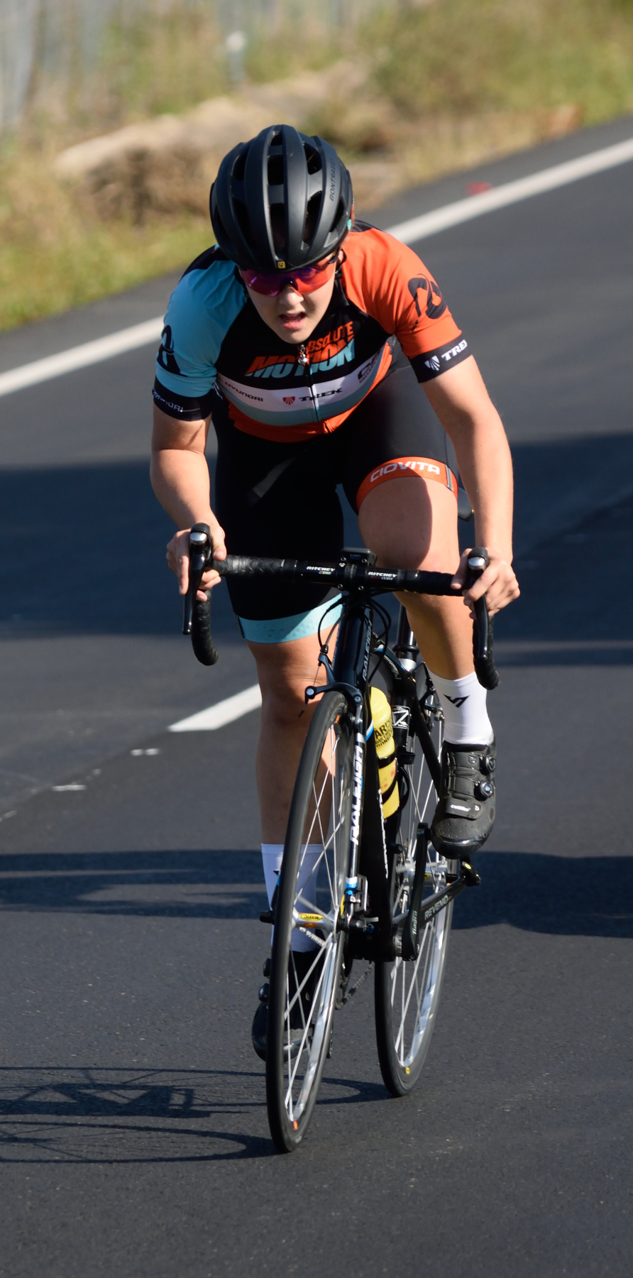 Frances Janse van Resnburg won the U19 girls road race on Sunday for his second title of the 2019 SA Youth Road Cycling National Championships.
