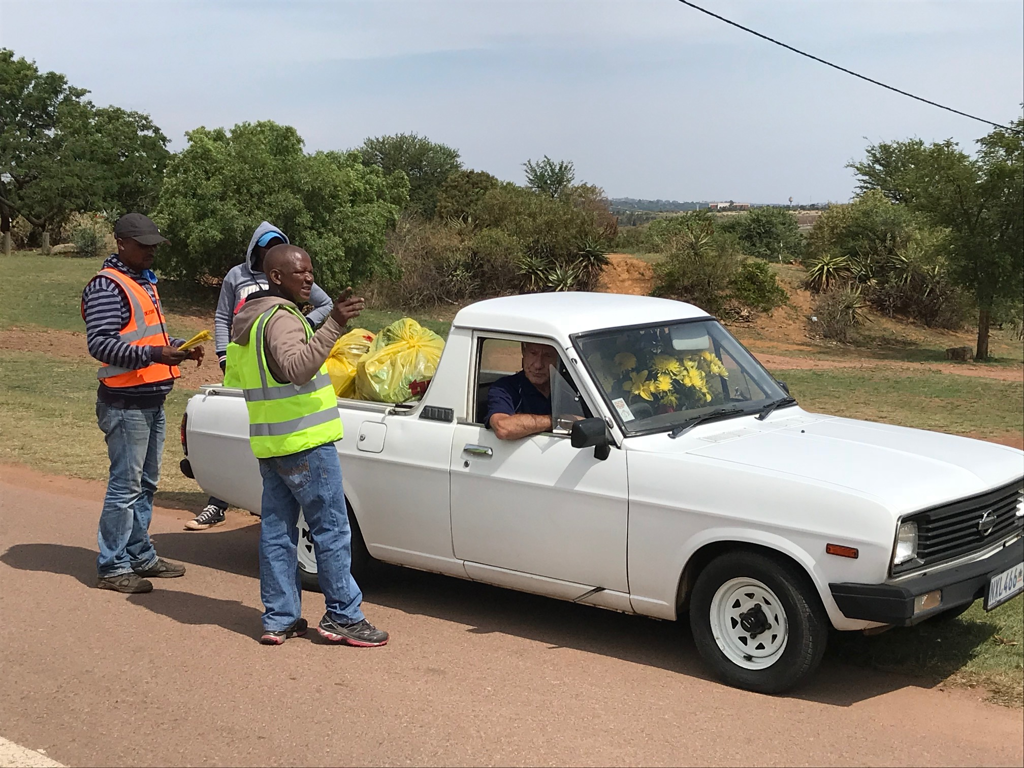 Bestmed Tshwane Classic race organiser Mauritz Meyer and his Green Caps Recycling Crew clean up at the Voortrekker Monument following last year's event. Picture: supplied