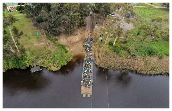 7.The Malgas Pond or Ferry crossing. It is a unique scene to a cycle race, but all riders enjoyed their Roosterkoek while waiting to cross