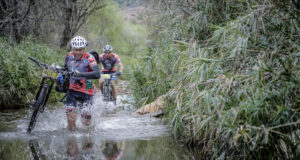 The Langwater water crossing varies in depth every year and it is only really possible to predict just how wet riders will get the week before the first event. Photo by Jacques Marais.