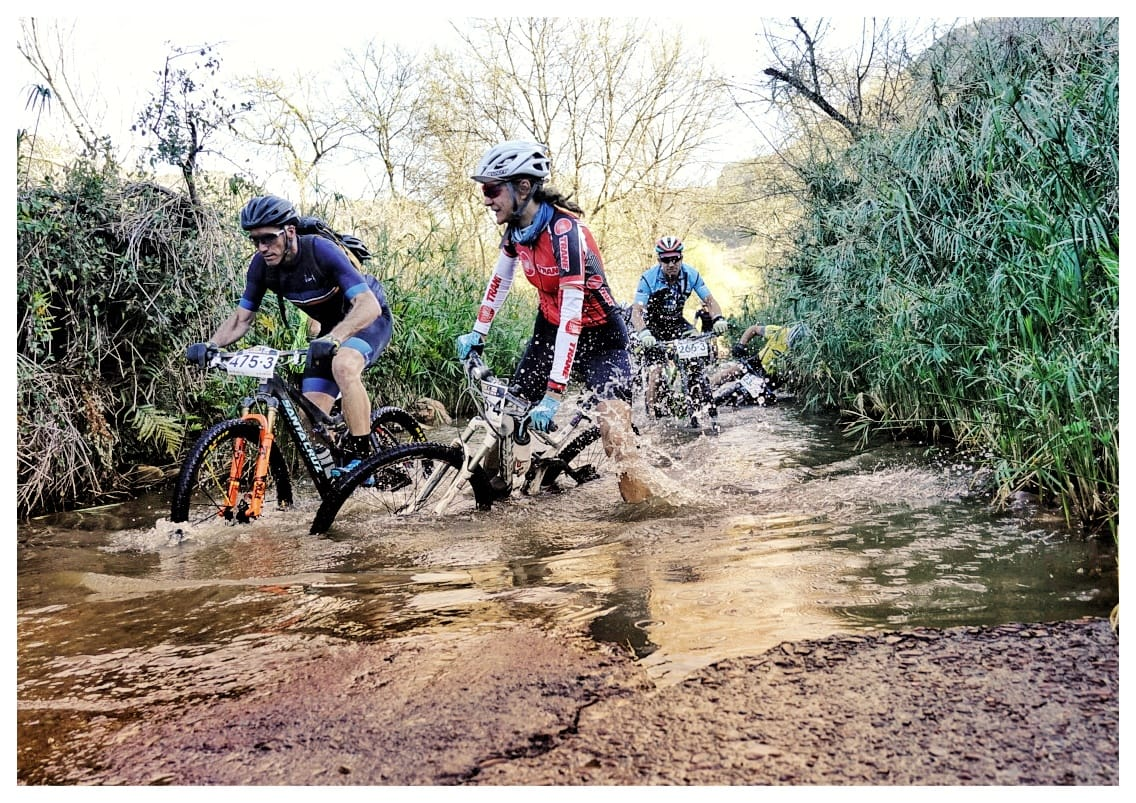 The Langwater crossing – which comes 123 kilometres into the route, in the middle of the Baviaanskloof Nature Reserve – caused more than just wet feet in 2019. Photo by Jacques Marais.