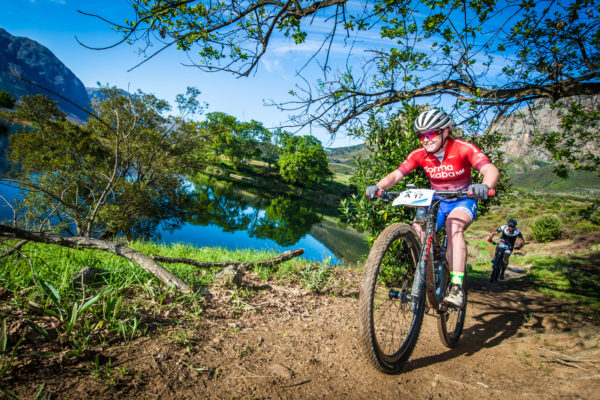 Amy McDougall in action during the 2018 Fedhealth MTB Challenge.  Photo Credit:  Tobias Ginsberg