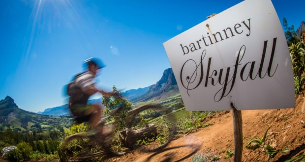 Mountain biking enthusiasts enjoying Bartinney Skyfall during the 2018 Fedhealth MTB Challenge.  Photo Credit:  Tobias Ginsberg